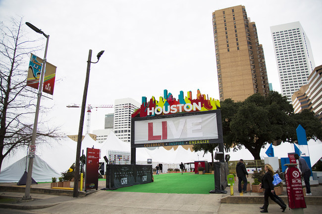 Houston LIVE is a celebration of all things Houston. This 60,000 square-foot experience features several areas that collectively celebrate the diversity, heritage, and artistry of the city. - Photos courtesy of GES. All rights reserved.
