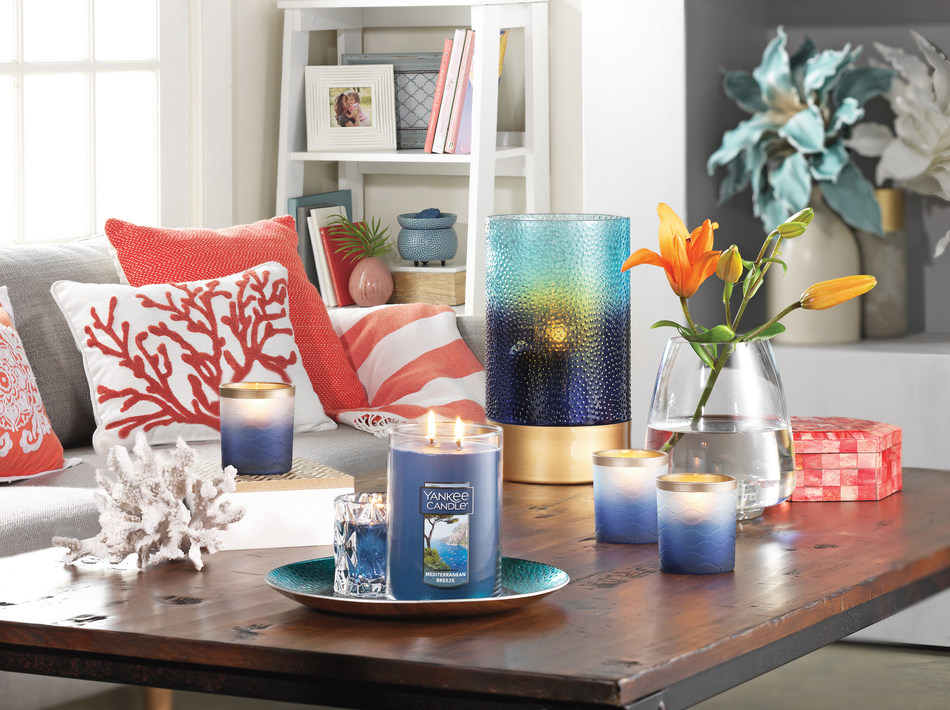 Yankee Candle's Mediterranean Breeze is one of four fresh new fragrances in the spring 2017 collection.
