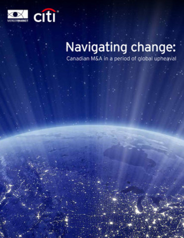 Despite political and economic turbulence around the world, 2016 proved to be among the strongest years on record for Canadian M&A. Heading into 2017, the country is expecting to have another robust year driven by a continual flow of outbound investment activity, according to Navigating change: Canadian M&A in a period of global upheaval, sponsored by Citi in association with Mergermarket. (CNW Group/CITIBANK CANADA)