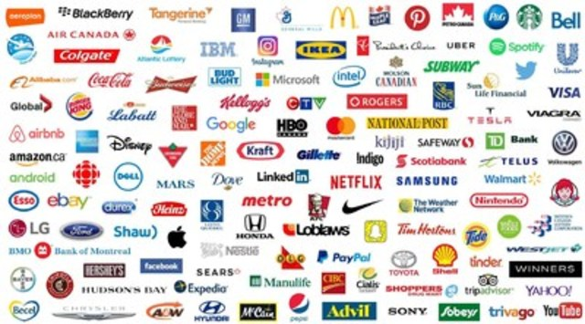The Most Influential Brands in Canada 2016: 100+ Brands Ranked (CNW Group/Institute of Communication Agencies)