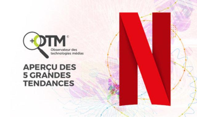 D'après le tout dernier sondage de l'OTM, le tiers des abonnés à Netflix partagent leur compte (Groupe CNW/CBC/Radio-Canada)