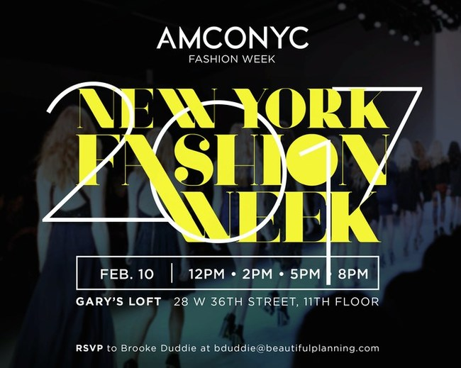 AMCONYC aims to bring the basics of New York Fashion Week back.