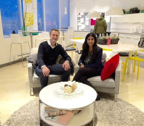 Stefan Sjöstrand, President of IKEA Canada, with 2016 CEO x 1 Day finalist, Maria Poonawala. (CNW Group/Odgers Berndtson)