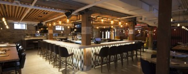 Liberty Commons' bar and dining room occupies the entire lower level of a two-level heritage space. (CNW Group/Big Rock Brewery Inc.)