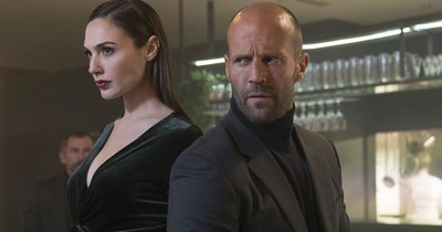 Gal Gadot and Jason Statham in Wix Super Bowl LI #DisruptiveWorld Campaign