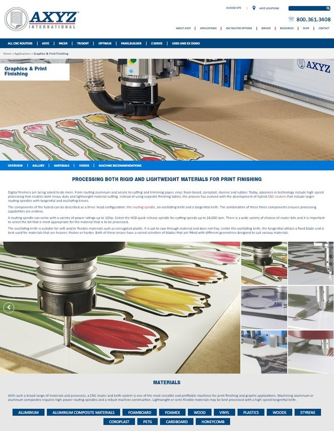 AXYZ deliver pertinent industry information, ensuring visitors have the right material to make informed decisions