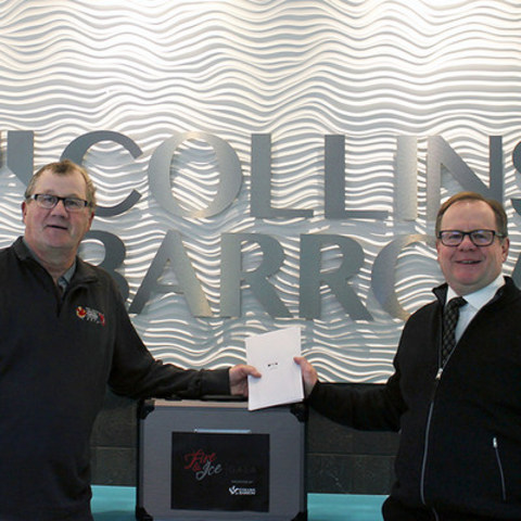 L to R: Hugh McPherson, Vice Chair, 2019 Canada Winter Games Host Society; Rob Fischer, Partner, Collins Barrow Red Deer LLP (CNW Group/Collins Barrow National Cooperative Incorporated)
