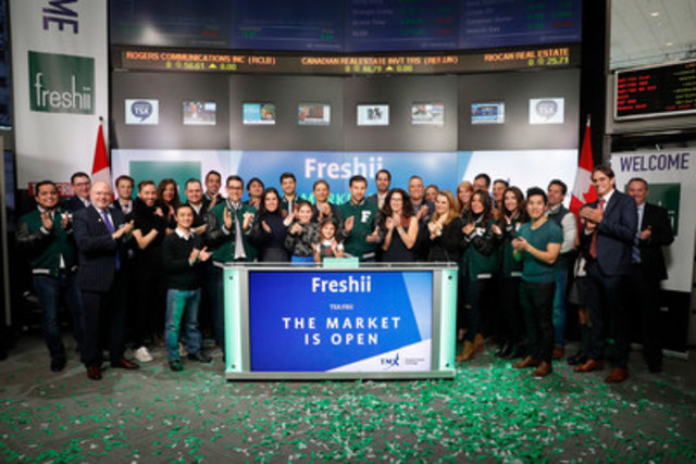 Matthew Corrin, Founder and CEO, Freshii (FRII) joined Nick Thadaney, President and CEO, Global Equity Capital Markets, TMX Group to open the market. Freshii, is a global leader in the health-casual restaurant business - offering a diverse and completely customizable menu.  Founded in 2005, Freshii has grown to 244 restaurants in 15 countries around the world. Freshii commenced trading on Toronto Stock Exchange on January 31, 2017. For more information, please visit https://www.freshii.com/ca (CNW Group/TMX Group Limited)
