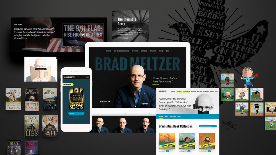 The many faces of Brad Meltzer--thrillers, children's books, videos, fandom and more!