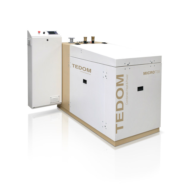 Available from TTcogen LLC, TEDOM's Micro 35kW combined heat and power units arrived in the USA for the first time in Nov. 2016.