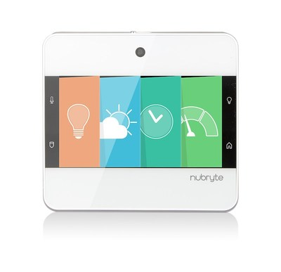 The NuBryte Touchpoint gives you smart lighting, home security, an intercom, and family management hub in a sleek console, right at the light switch!
