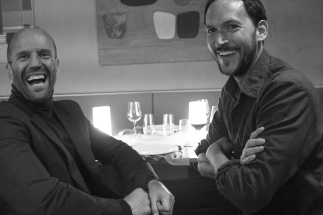Jason Statham and Louis Leterrier behind the scenes of Wix Super Bowl LI #DisruptiveWorld Campaign