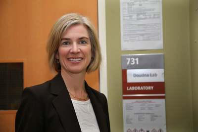 Jennifer Doudna, during a photo session yesterday at the University of California, Berkeley.