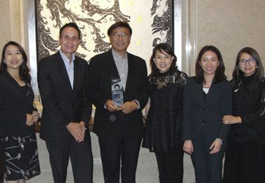 The leadership team of ICF Bangkok was recognized with the 2016 ICF Chair's Award during a January 16, 2017, reception.