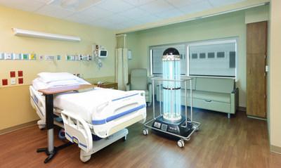 Tru-D SmartUVC in a patient room.