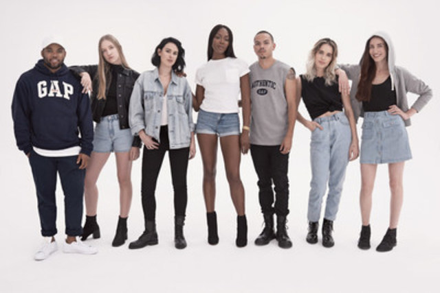 Gap Launches Limited-Edition '90's Archive Re-Issue Collection with 'Generation Gap' Film. Gap pays homage to the past and celebrates emerging talent with Rumer Willis, Coco Gordon, Evan Ross, Chelsea Tyler, Lizzy Jagger, TJ Mizell and Naomi Campbell (CNW Group/Gap Canada)
