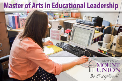 The University of Mount Union is proud to announce its first online exclusive degree with a Master of Arts in Educational Leadership