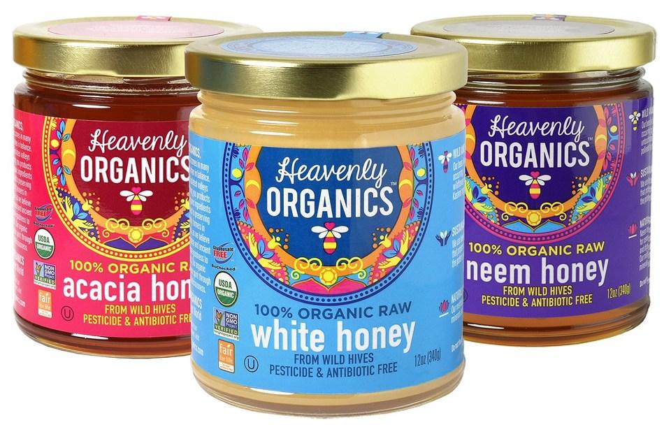 Heavenly Organics Raw, 100% Organic and Glyphosate Free Honey