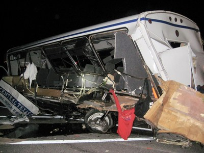 Champion Defender Bus at the center of a vehicle safety defect lawsuit that allegedly caused the deaths of 3 women softball players for the North Central Texas College on September 26, 2014