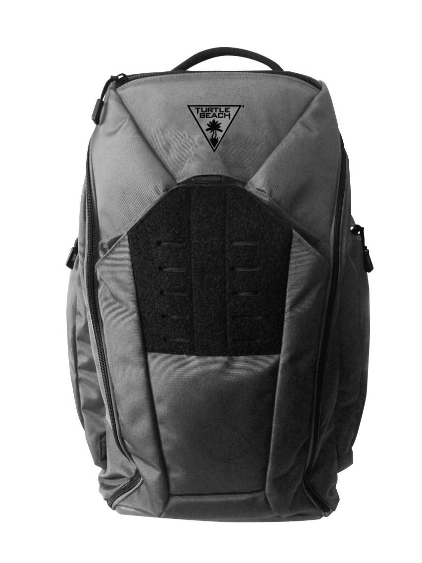 "Limited-Edition Turtle Beach Grey FLYTE Gaming Backpack. If you're a gamer, this is the last bag you'll ever need. Created by EGL in conjunction with Turtle Beach, the FLYTE Gaming Backpack is available for an ""Early Bird"" pre-order price of $99.00, while supplies last."