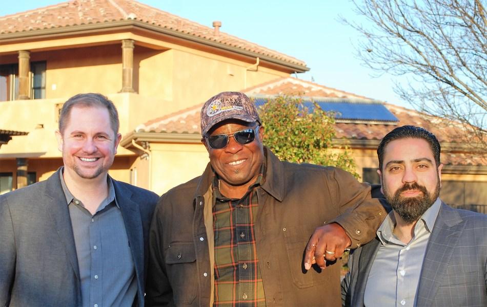 (L-R) Derek Chase, CEO SunSystem Technology, Dusty Baker, President Baker Energy Team and Mehrad Saidi, CFO SunSystem Technology.