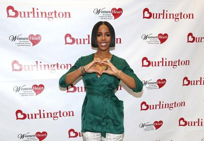 Kelly Rowland, artista musical ganadora del premio Grammy y defensora de la salud cardiaca, se une a Burlington Stores y WomenHeart para educar a las mujeres sobre la importancia de la salud cardiaca, pues las enfermedades cardiacas son la principal causa de mortalidad en las mujeres.