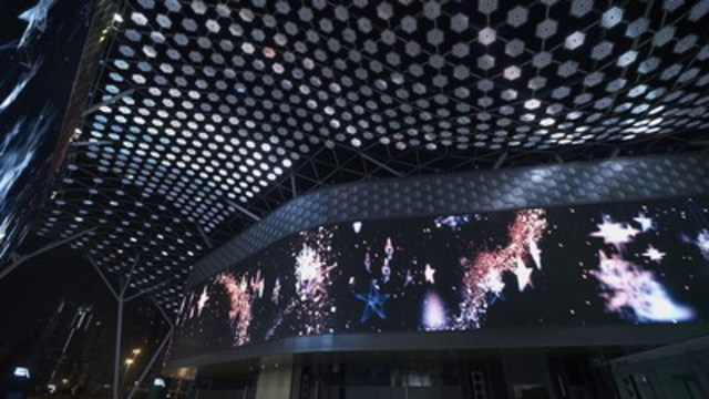 """City Walk is a remarkable pedestrian experience, even in Dubai where grandiose, dazzling projects abound. In addition to its arresting visual and experiential content, City Walk is notable because of its strategic """"future-proof"""" head-end system designed by Float4. (CNW Group/Flaot4)"""