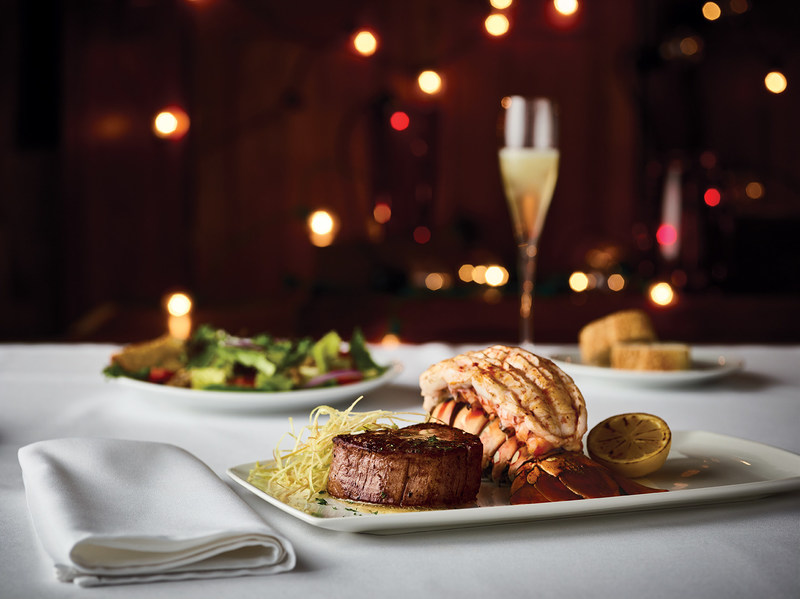 The perfect pair - Fleming's 8oz Filet Mignon with an Australian Lobster Tail.