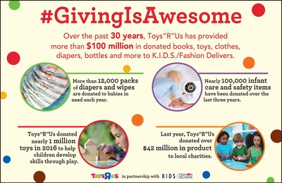 "Toys""R""Us Donates $100 Million to Community Charities Through K.I.D.S./Fashion Delivers"