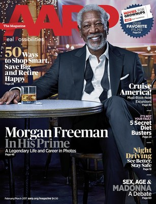 Actor Morgan Freeman Receives AARP's Movies For Grownups' Career Achievement Award
