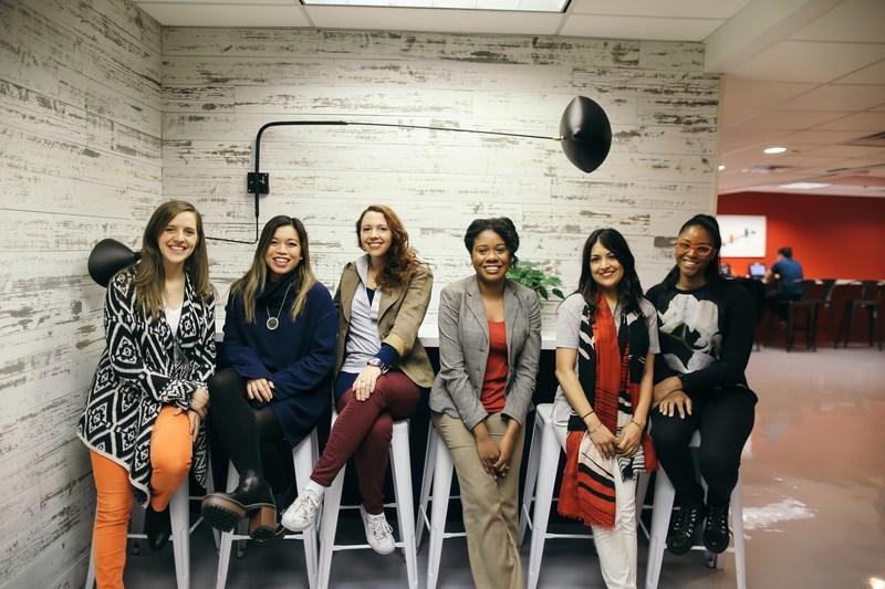 Women #BuildYourDream Scholarship Winners; Sara Maag, Jennifer Lee, Sam Frons, Ebonique Ellis, Aneri Shah, Zuley Clarke