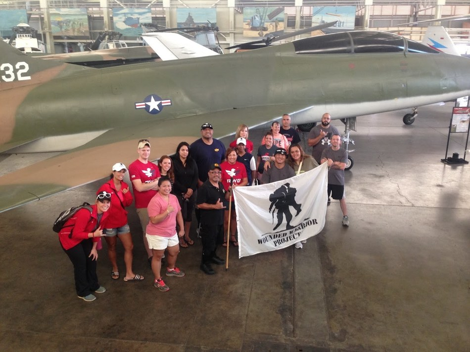 During a recent Wounded Warrior Project(R) (WWP) connection event at the Pacific Aviation Museum Pearl Harbor, injured veterans cleaned and performed maintenance on planes and helicopters.