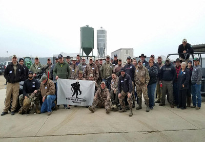 Wounded Warrior Project teamed up with Texas game wardens to provide an outing hunting feral hogs near Dallas recently