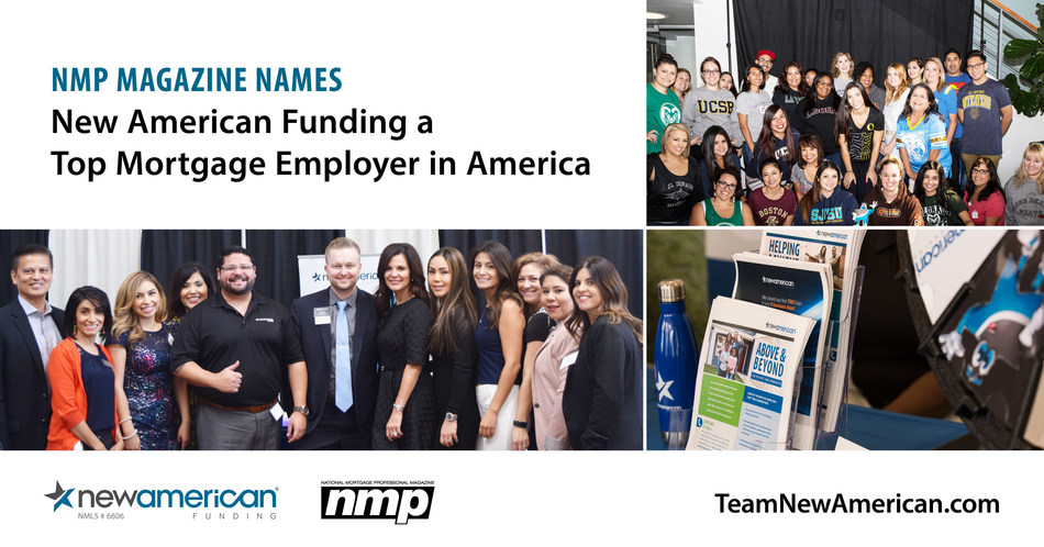 NMP Magazine Names New American Funding a Top Mortgage Employer in America.