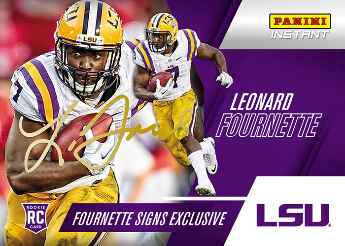 PANINI AMERICA INKS DRAFT PROSPECT AND FORMER LSU RUNNING BACK LEONARD FOURNETTE TO EXCLUSIVE AGREEMENT FOR TRADING CARDS, MEMORABILIA