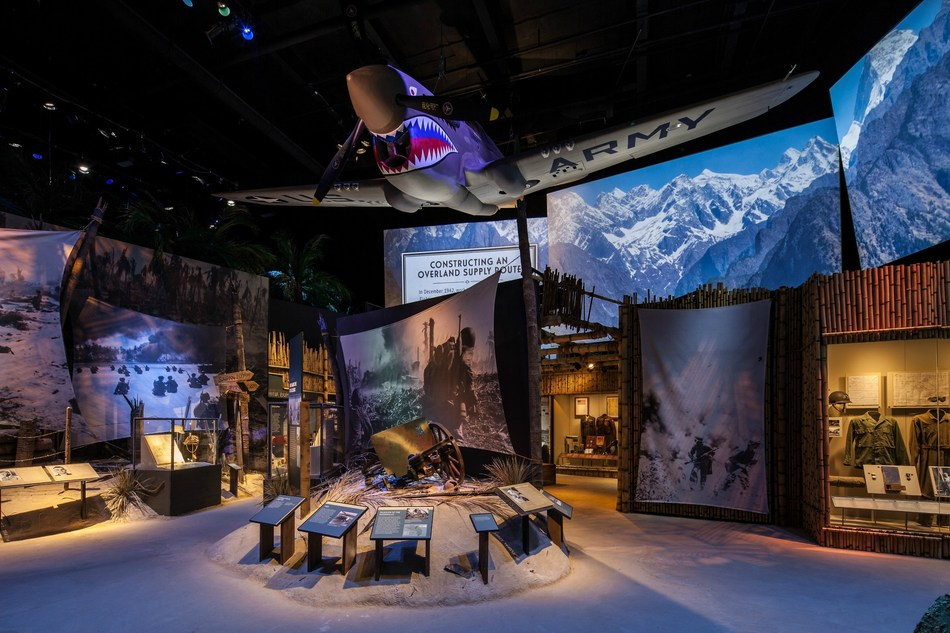 Tour participants will enjoy an insider's tour of the National WWII Museum. Pictured here is the China, Burma, India gallery in the Museum's Road to Tokyo exhibit.