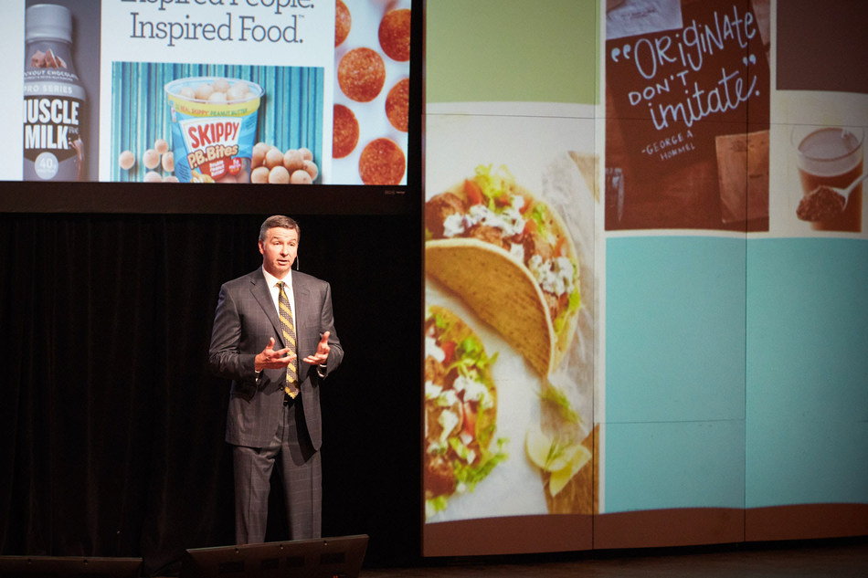 Jim Snee, Hormel Foods CEO, presents at the company's 2017 Annual Meeting of Stockholders