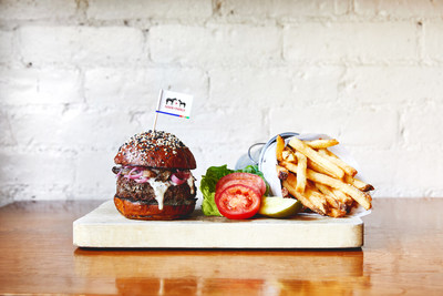 The Impossible Burger as served at Saxon + Parole in New York.