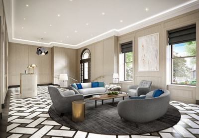 Rendering of the lobby at 101 West 78th Street