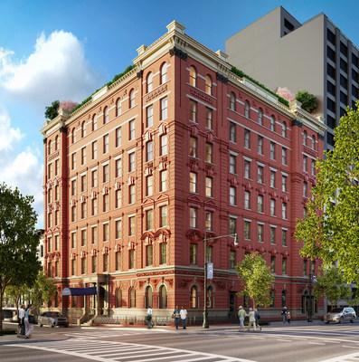 Rendering of 101 West 78th Street's Exterior