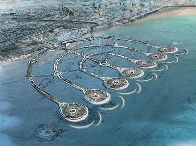 The Menorah Islands Project seeks to create a series of artificial islands off the coast of Israel
