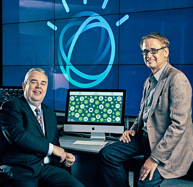 On February 1, 2017, H&R Block CEO Bill Cobb (left) and IBM SVP David Kenny (right) announced that H&R Block's tax professionals at approximately 10,000 branch offices across the U.S. will use a new, consumer-facing technology that incorporates IBM Watson - the largest deployment of Watson in retail locations. The new technology will help H&R Block tax professionals deliver the best outcome for each client's unique tax situation. (Photo by Guerin Blask) (PRNewsFoto/IBM)