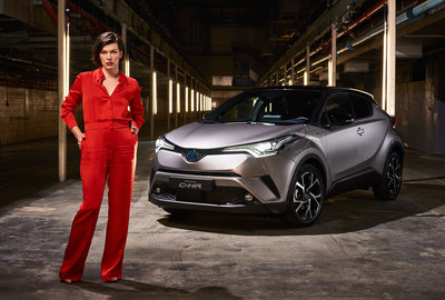 LONDON - 2 FEBRUARY: Milla Jovovich, actress and model, starred in the world's first ever drive through immersive theatre experience, to launch the new Toyota C-HR. The seven-scene interactive production saw over 100 guests immersed in the story of one amazing fictional night as they flowed through five European cities, including Berlin, Milan, Paris, Barcelona and London. (PRNewsFoto/Toyota)