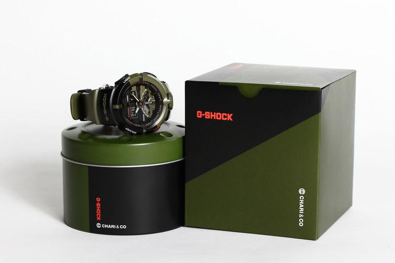 The limited edition G-SHOCK x Chari & Co. GA500K