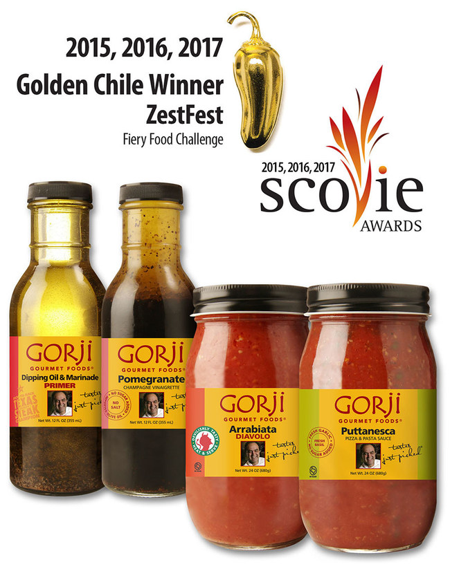 Gorji Gourmet Foods 2017 Zestfest and Scovie Award Winners