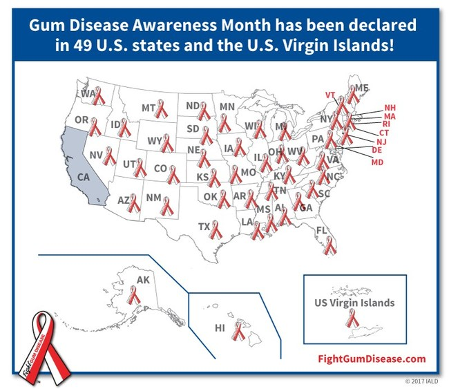 Gum Disease affects 85% of US adults and is linked to cancer, still birth, Alzheimer's and more. February is Gum Disease Awareness Month - learn more at FightGumDisease.com