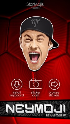 Neymoji - The #1 Celebrity App featuring stickers and emoji of Neymar Jr, is now on Android!
