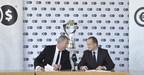 Guy-Laurent Epstein, Marketing Director, UEFA Events SA. and Piotr Kicinski, Cinkciarz Vice-Chairman of the Board (PRNewsFoto/Cinkciarz.pl)