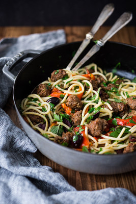 Spicy Lamb Merguez Sausage with Bucatini Pasta (Photo Courtesy of American Lamb Board)