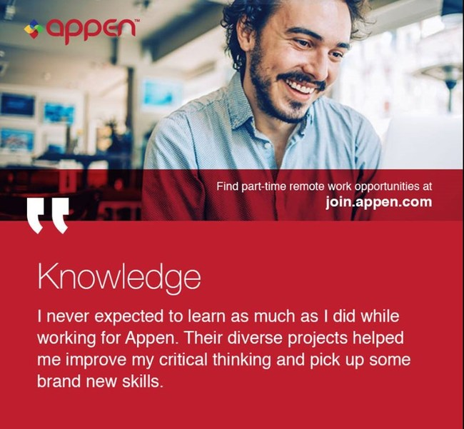 Appen offers a variety of part-time remote jobs. Join our Talent Network today!
